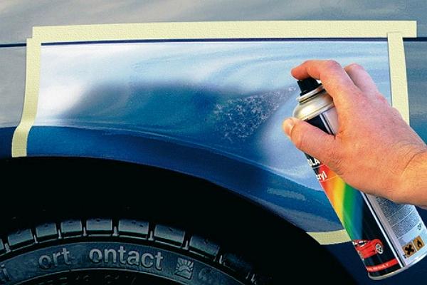 Подкраска сколов на автомобиле своими руками